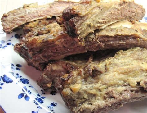 oven roasted prime rib bones in the kitchen with kath