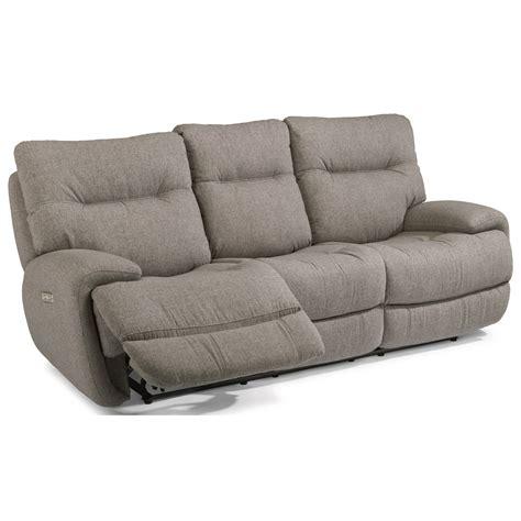 reclining sofa with fold console flexsteel latitudes evian power reclining sofa with fold
