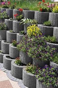 retaining wall planter blocks retaining wall ideas concrete planters as a supporting