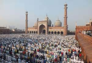 millions of muslims celebrate eid to mark the end of