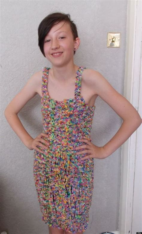 Dress Made From 24k Loom Bands Sells On Ebay For 170k | this loom band dress is worth more than your car