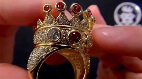Curren King Power king 14k gold cz crown ring rappers jewelry