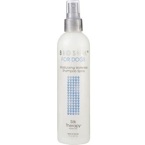 biosilk for dogs biosilk moisturizing waterless shoo spray for dogs 8 fl oz