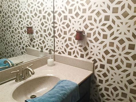 wall stencils for painting bathroom 1000 images about stenciled painted bathrooms on