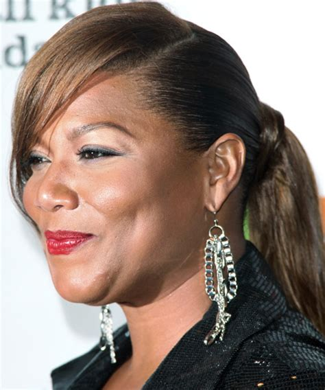how to do queen hairstyles queen latifah straight formal updo hairstyle