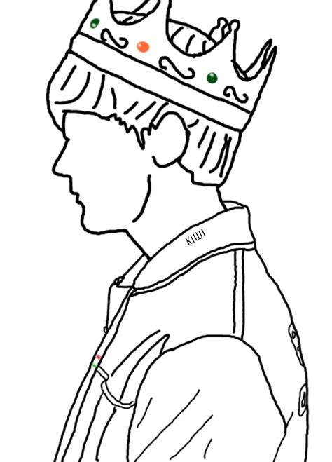 louistomlinson king crown drawing onedirection outline...