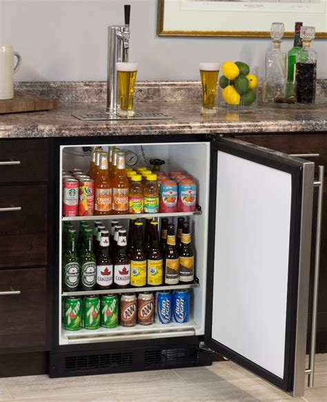 built in kegerator marvel ml24bns1rs x1 kegerator with x clusive premium