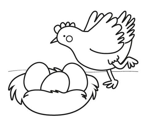 huevos con caritas para colorear gallina con huevos de pascua dibujo para colorear e imprimir
