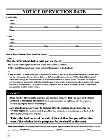 printable eviction notice arkansas eviction notice legalforms org