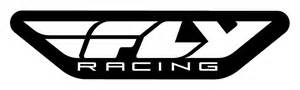 fly racing corporate logo trailer black white 45 inch