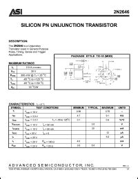 unijunction transistor datasheet datasheet transistor ujt 2646 28 images 2n2646 datasheet pdf boca semiconductor corporation