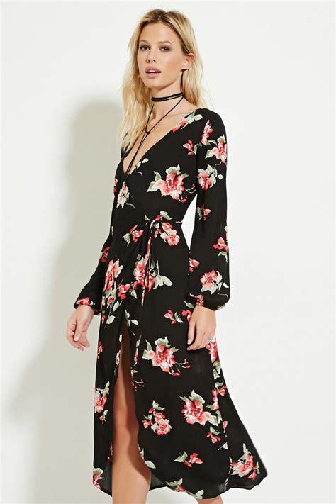 Floral Print Wrap Dress floral print wrap dress