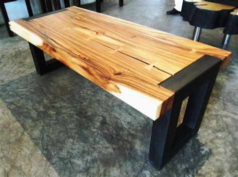 bench joinery suar wood modern cocktail table or bench with butterfly