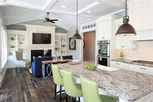 Lighting options over the kitchen island