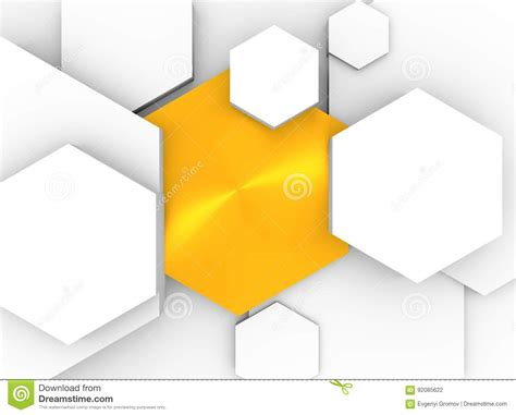 design concept hexagon hexagon concept design abstract background stock