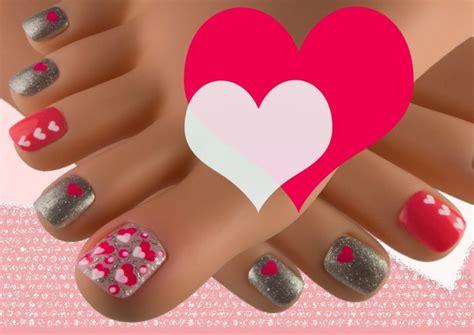 uñas decoradas con flores grandes para pies 89 dise 241 os de u 241 as decoradas con corazones para manos y