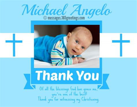 thank you card bautism template word christening messages 365greetings