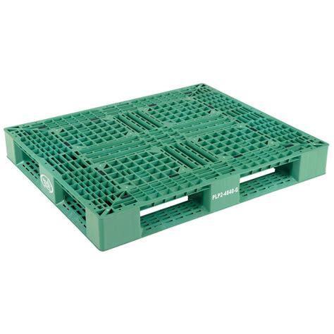 vestil 48 in x 40 in x 6 in green plastic pallet skid