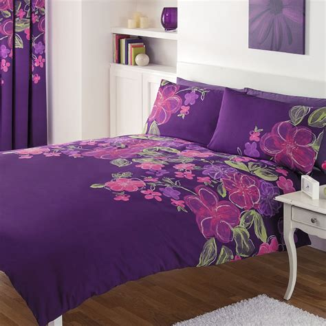 Gaveno Cavailia Juliet Complete Bedding Set With Curtains Purple Bedding And Curtain Sets
