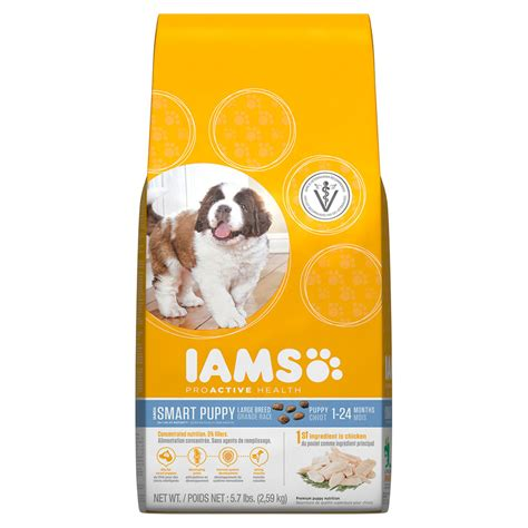 puppy food iams proactive health smart puppy large breed food petsolutions