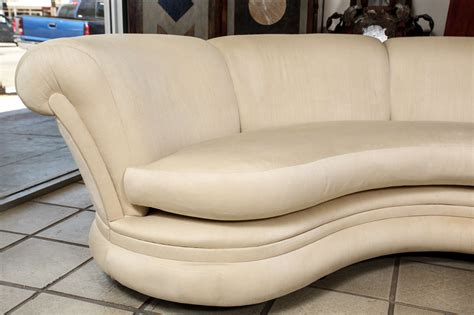 very sofas very nice pair of curving hollywood regency sofas at 1stdibs