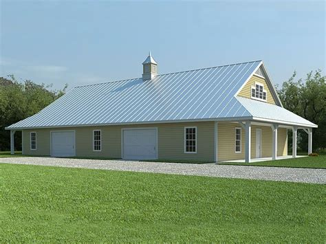 barn workshop plans steel buildings with living quarters floor plans pole