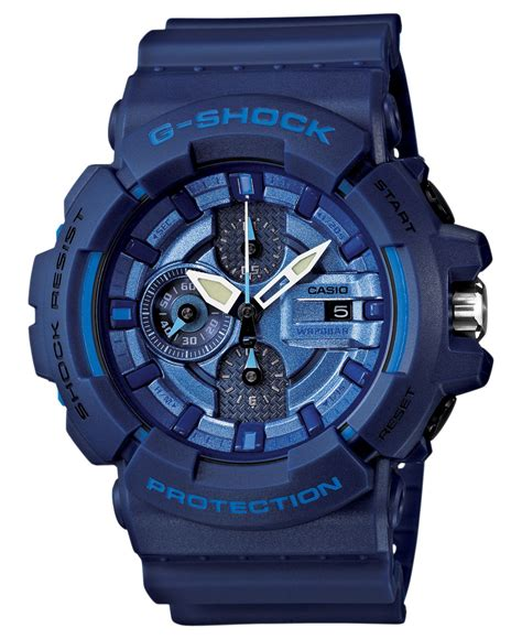 G Shock Blue g shock s chronograph blue resin 53x55mm