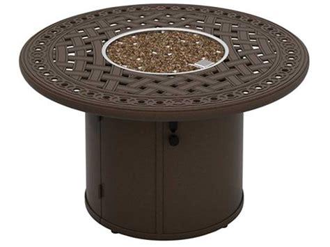 Tropitone Garden Terrace Aluminum 43 Round Fire Pit Table Tropitone Pit