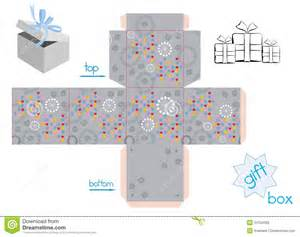 template for cube gift box stock vector image of grey