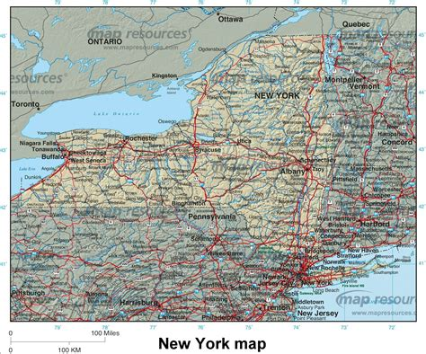 road map of new york 22 simple road map new york state afputra