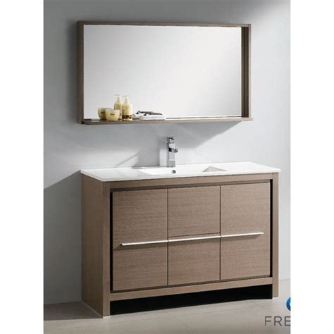 Fresca Vanity fresca allier 48 quot single modern bathroom vanity set with mirror reviews wayfair