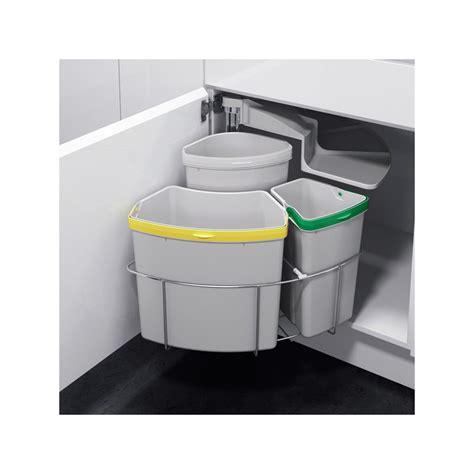 poubelle de cuisine tri s駘ectif 2 bacs poubelle tri selectif sous evier obasinc com