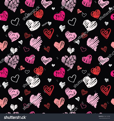 seamless pattern with hearts heart pattern vector seamless background 156116789