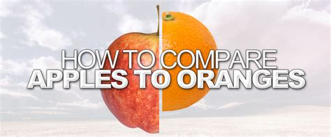 Comparing Apples To Oranges by How To Properly Compare Apples To Oranges Get The Pix