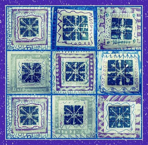 quilt pattern art lessons 126 best art ed winter projects elementary images on