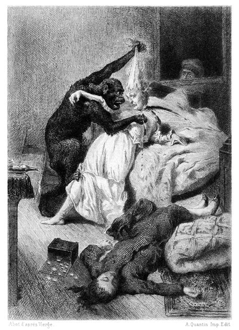 The Murders in the Rue Morgue – Old Book Illustrations