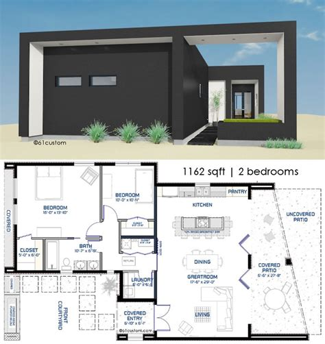 contemporary floor plans homes 25 best small modern house plans ideas on pinterest