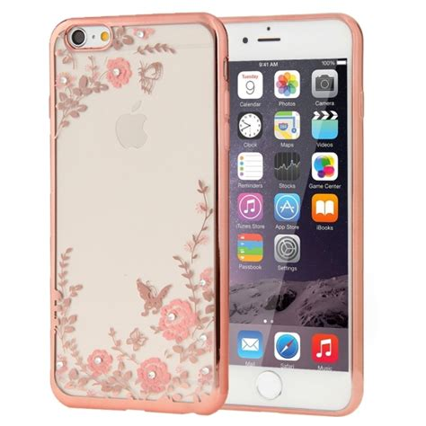 Iphone 5 6 6s Flower Rosegold Electroplating For Iphone 6 6s Flowers Patterns Electroplating Soft Tpu
