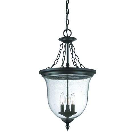 Home Depot Light Fixture Acclaim Lighting Collection 3 Light Matte Black Outdoor Hanging Lantern Light Fixture