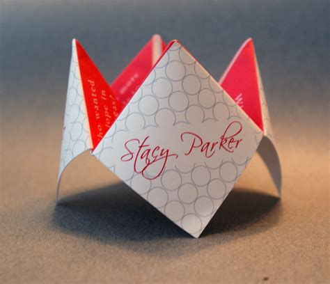 Origami Birthday Box - wedding favor cootie catcher decoration invitation