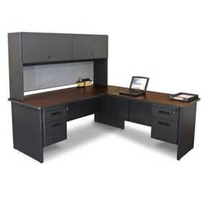 Large Home Office Desk Furniture Black Corner Home Office Computer Desk With Hutch And Wooden Swivel Chair Feat Square
