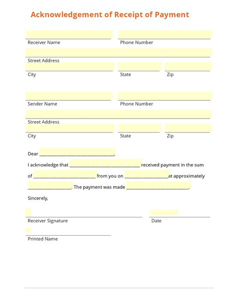 sample payment receipt forms 8 free documents in word pdf excel