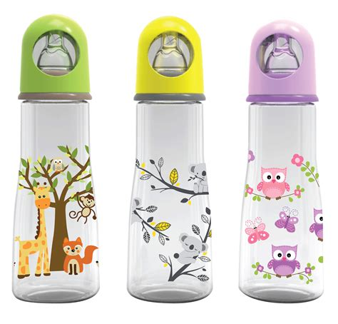 Botol Su Bayi Babysafe Feeding Bootle Woth Handle 250ml Jp005 Cokelat feeding bottles accesorries baby safe