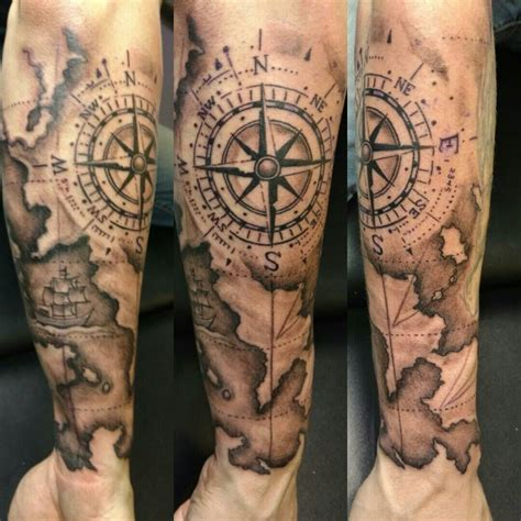 compass and map tattoo map and compass δημιουργικός