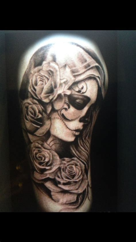 day of the dead tattoos with roses 24 best day of the dead tattoos images on
