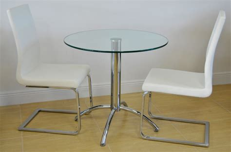 Glass Bistro Table And 2 Chairs Small Dinette Chrome Base With 386 Chairs Alfa Dinettes