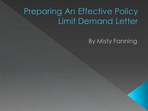 Demand Letter Policy Limits Preparing An Effective Policy Limit Demand Letter