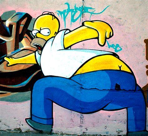 imagenes graffitis satanicos los simpsons graffitis imagenes etc taringa
