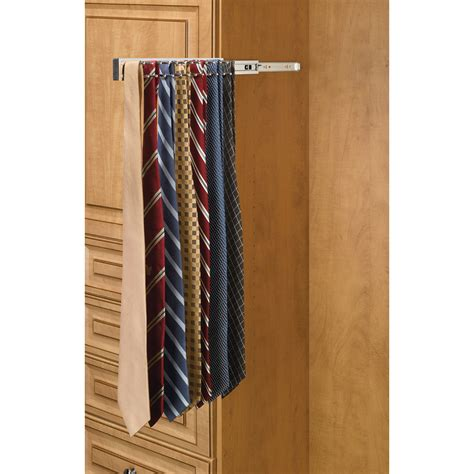 shop rev a shelf chrome pull out tie rack at lowes