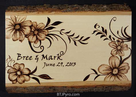 wedding date woodburning by brandojones on deviantart